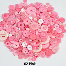 600Pcs Mix Colours Sewing DIY Cartoon Buttons Craft Decals Plastic Button 9-30mm