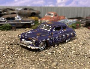 1949 Mercury Coupe Custom Weathered Rusty Barn Find 1/64 Diecast Junkyard Car M2
