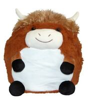 Cozy Time Giant Soft Plush Cuddly Toy Handwarmer - Highland Cow