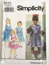 Simplicity Pattern 8510 | Pinafore & Dress with Layered Skirt  | Child's Sz 5-6X