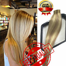 8A Luxury Brazilian 50G Tape in Remy Human Hair Extensions Natural Seamlees US