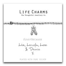 Life Charms Live Laugh Love and Dance Bracelet