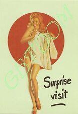 lot de 7 CPSM Pin-up Américaines en sous-vêtement - AVIREX - Nue Nude girl naked