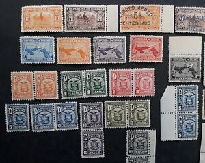 RARE 1892- Panama lot of 35 Postage Stamps Mint