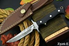 Custom Damascus Steel Hunting Knife Handmade With G-10 Micarta Handle (Z526-E)