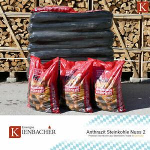 Steinkohle Anthrazit Nuss 2 *150kg - 1200kg* Ibbenbüren Kohle Briketts Nusskohle