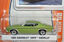 CHEVROLET COPO CHEVELLE 1969 GREEN GREENLIGHT MUSCLE SERIES 9 13090 1:64 NEW