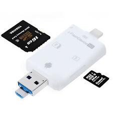 MICRO OTG Alta velocità Lettore SD CARD TF PC Android IPHONE IPAD CELLULARE