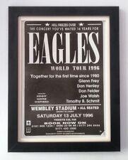 More details for the eagles*wembley stadium*1996*original*poster*ad*framed*fast world ship