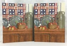 TWO Recipe Book Binders Legacy Americana Stickers Cards Recipes Country Kitchen