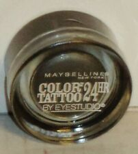 1 NEW Maybelline Color Tattoo Metal 24 HR Eyeshadow AUDACIOUS ASPHALT #15 Sealed