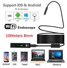 10M 8LED HD WiFi Endoscope Borescope 8mm Snake Tube Inspection Camera 1200P IP68