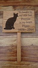 Pet memorial plaque made from solid Oak and personalised with a laser engraver