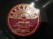 "BARNABAS VON GECZY ""Victoria Regia""/""Tango Bolero"" 78rpm 10"" GERMANY 1939 MINT-"