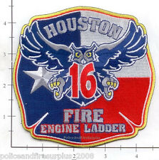 Texas - Houston Station 16 TX Fire Dept Patch Owl
