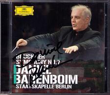 Daniel Barenboim firmato Bruckner Symphony No. 7 Nowak CD stato cappella Berlino