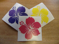 Hibiscus Sticker - 100mm cut vinyl decal