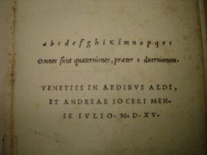 1515: Lucanus (Aldine Press). Post incunable, classic.