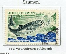 STAMP / TIMBRE FRANCE OBLITERE N° 1693 SAUMON / FAUNE