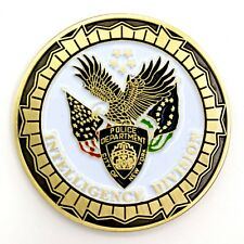 NYPD Intelligence Division Leads Investigation Unit NY Police Challenge Coin!