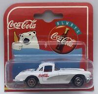 Majorette 1958 Chevrolet Corvette Coca Cola White 1:58 Scale MOC 279