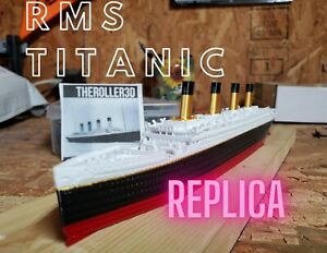 RMS Titanic Model, 12 Inches Detailed Replica, High Detail 3D Printed Multicolor