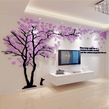 Removable 3D Tree Wall Art Stickers Arcylic Decal Mural Home Decor TV Background