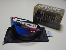 DS Oakley M Frame Mumbo Splatter Pink with Blue Iridium Sweep vintage A