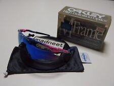 DS Oakley M Frame Mumbo Splatter Pink with Blue Iridium Sweep vintage A