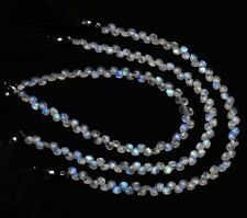 """Natural Gemstone Rainbow Moonstone 5MM Size Faceted Heart Shape Briolettes 10"""""""