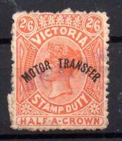 Victoria State QV 2s 6d Motor Transfer Revenue WS15586