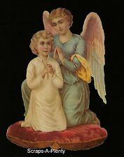 German Scrap Die Cut - Large Easter / Christmas Praying Angel w/Child  BK5015