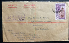 1952 Sibu Sarawak Registered Airmail Cover To Frankton New Zealand