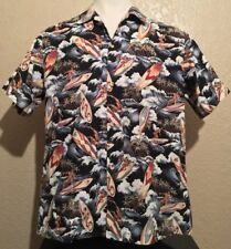 Parrots Cockatoo Toucan Macaw African Gray 501-2449 Blue Aloha Hawaiian Shirt