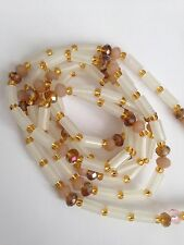 """Sexy African Single Waist Beads, 27"""" inches long, Gold and Clear New FREE P&P"""