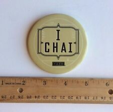 "Very Rare STARBUCKS ""I Chai"" Tazo Chai Tea Pinback Button / Apron Pin (2003)"