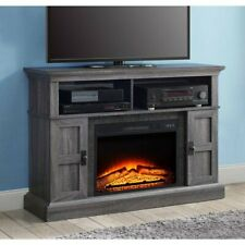 TV Stand Entertainment Center Electric Fireplace Heater Remote Control Gray 55