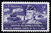 USA Mi Nr. 646 postfrisch MNH Smith Patton Soldat Armee Krieg Panzer Militär