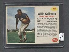 1962 Post #113 Willie Galimore (Bears) (PT18)  NM  (Flat Rate Shipping)
