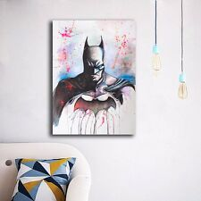 Watercolor Batman Stretched Canvas Prints Framed Wall Art Home Decor Kids Gift