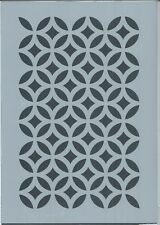 Everlong Shabby Chic Lattice Circles A4 Stencil