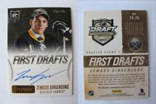2013-14 Panini Playbook Zemgus Girgensons 1/1 first drafts auto 1 of 1 RC Rookie