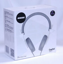 WHITE Capital Headphone AIAIAI w/mic Closed DJ sound iphone 6 Apple Samsung