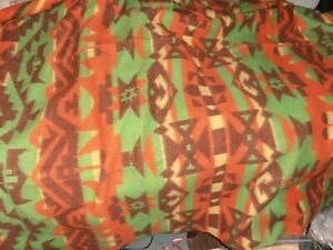 Vintage Beacon style Southwest Camp Blanket colorful 65X68