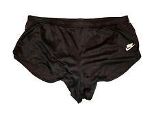 Nike vintage Nylon 80s 90s Shorts Sprinter shiny Sporthose Gr. XL black GS4