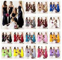 2017 HOT Stock 395 Satin Prom Party Bridesmaid Wedding Evening Dress Size 6-18