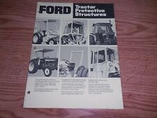 """FORD TRACTOR """"PROTECTIVE STRUCTURES"""" BROCHURE AD LITERATURE"""