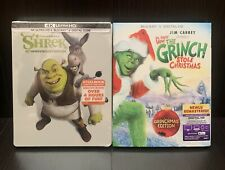 Shrek 4K Blu-ray Steelbook & How The Grinch Stole Christmas (the good one)