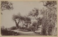 Menton Costa Azure Francia Stampa Albume D'Uovo Vintage Albume D'Uovo Ca 1875
