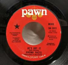 """Known Facts He's Got It 7"""" Promo Pawn 1974 Soul Willie Mitchell Earl Randle"""